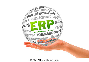Enterprise Resource Planning - Hand holding a Enterprise...