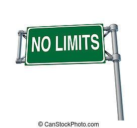 No Limitations - No limitations symbol of positive attitude...
