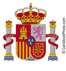 coat of arms of Spain vector illustration