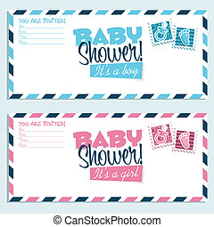 Baby Shower Invitations - Baby shower invitation envelopes