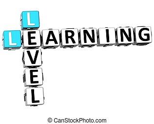 3D Level Learning Crossword