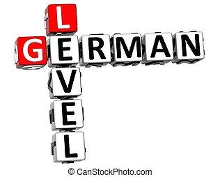 3D German Level Crossword