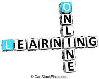 3D Online Learning Crossword