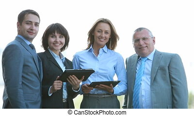 Best employees of the year - Portrait of four business...