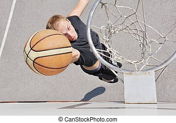 Basketball player shooting the ball