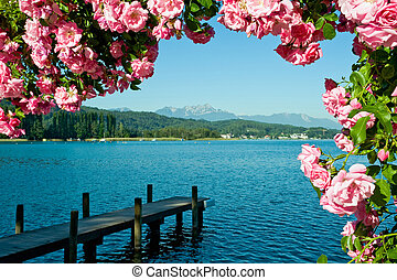 Lake Woerther - Greetings from the Lake Woerther, Carinthia,...