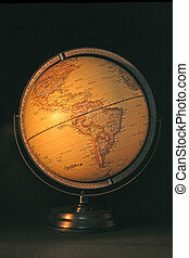 World Globe - Antique styled world globe showing the...