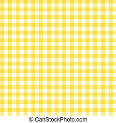 Yellow Gingham Fabric Background - A pastel yellow gingham...