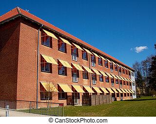 Modern apartment condominium complex