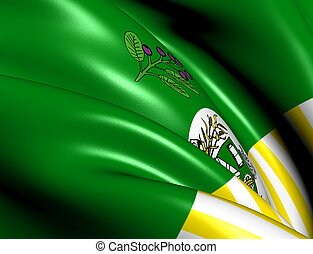 Flag of Saskatoon city, Canada Close Up