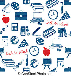 back to school doodle pattern