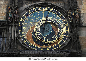 clock, Prague - on town square