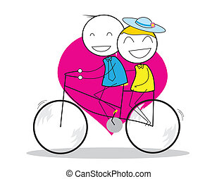 Couple Bicycle