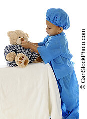 "Tiny Doc Giving Meds - An adorable preschool ""doctor"" in..."
