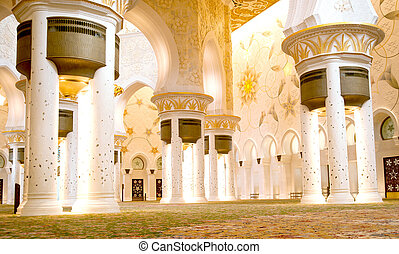 Beautiful Mosque - Beautiful Shiekh Zayed Mosque, Abu Dhabi,...
