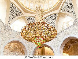 Decoration of Sheikh Zayed Mosque. Abu Dhabi, United Arab...
