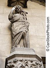 Saint John the baptist - Statue of saint John the baptist in...