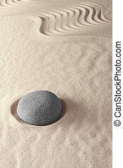 japanes zen garden - Japanese zen garden lines and stones...