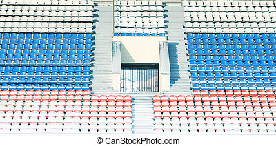 Vacant seats in stadium