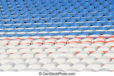 Vacant seats in stadium