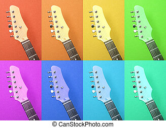 electric guitar - Multicolored abstract pattern of electric...