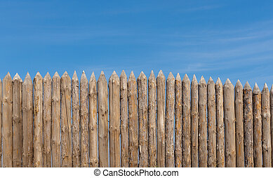 palisade - Traditional wooden rural wall from old logs