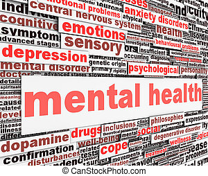 Mental health message concept Psychological symbol design