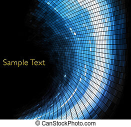Vector geometric tech background Vector creative background...