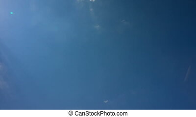 White Clouds on the Blue Sky, timelapse