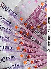 cinco, cien, Euro, notas