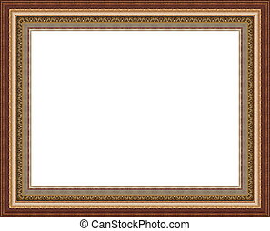 Beautiful wooden photo frame<< Bac - Beautiful antique...