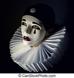 Pierrot - Girl with mask pierrot