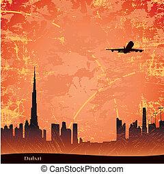 Dubai - Panjrama of Dubai at the dusk