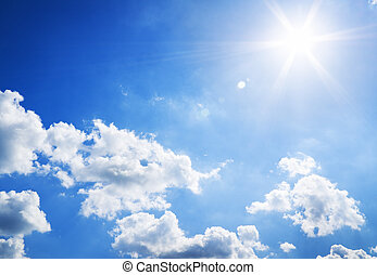sunny sky background. Nature composition.