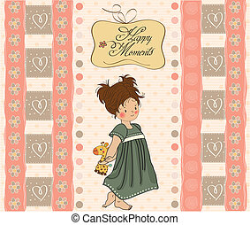 young girl going to bed