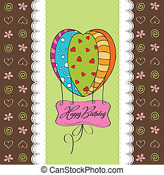 happy birthday card with balloons.