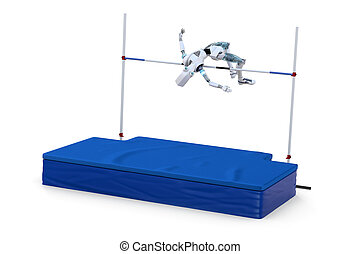 Robot Competing in High Jump