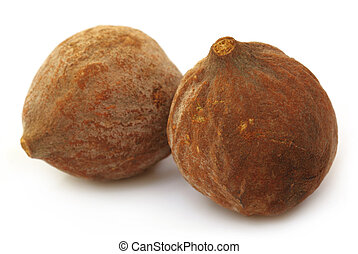 Bahera fruits of India - Terminalia bellericais or medicinal...