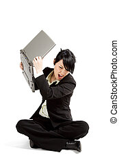 Stressed businesswoman - An angry and stressed businesswoman...