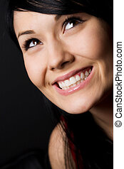 Beautiful woman - A shot of a happy beautiful young woman