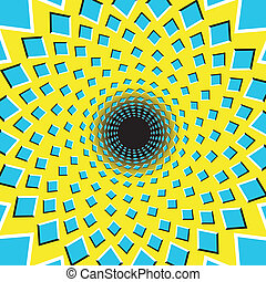Optical Illusion - Optical illusion black hole - vector
