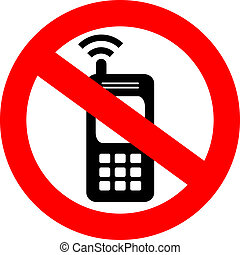 Vector no cell phone sign illustration