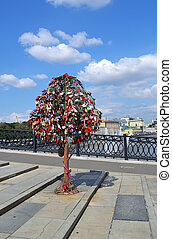 Tree of Love, Luzhkov Bridge Moscow, Russia