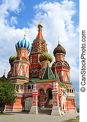 Saint Basil Cathedral on Red square, Moscow, Russia