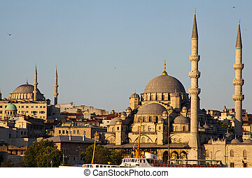New Mosque Yeni Cami in Eminonu district of Istanbul, Turkey...