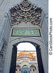 bleu, turquie, mosquée,  istanbul