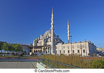 New Mosque (Yeni Cami) in Eminonu district of Istanbul, Turkey