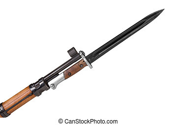 Rifle with bayonet - German rifle barrel with bayonet...