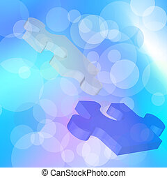Puzzle - Vector illustration of puzzle mosaic background