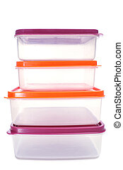 plastic containers - some plastic containers of different...